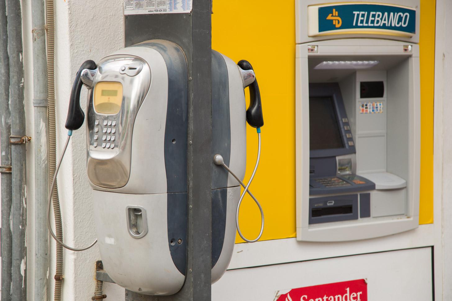 Een geldautomaat op Lanzarote