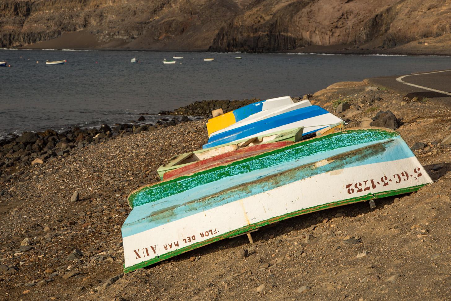 Vissersbootjes in Playa Quemada