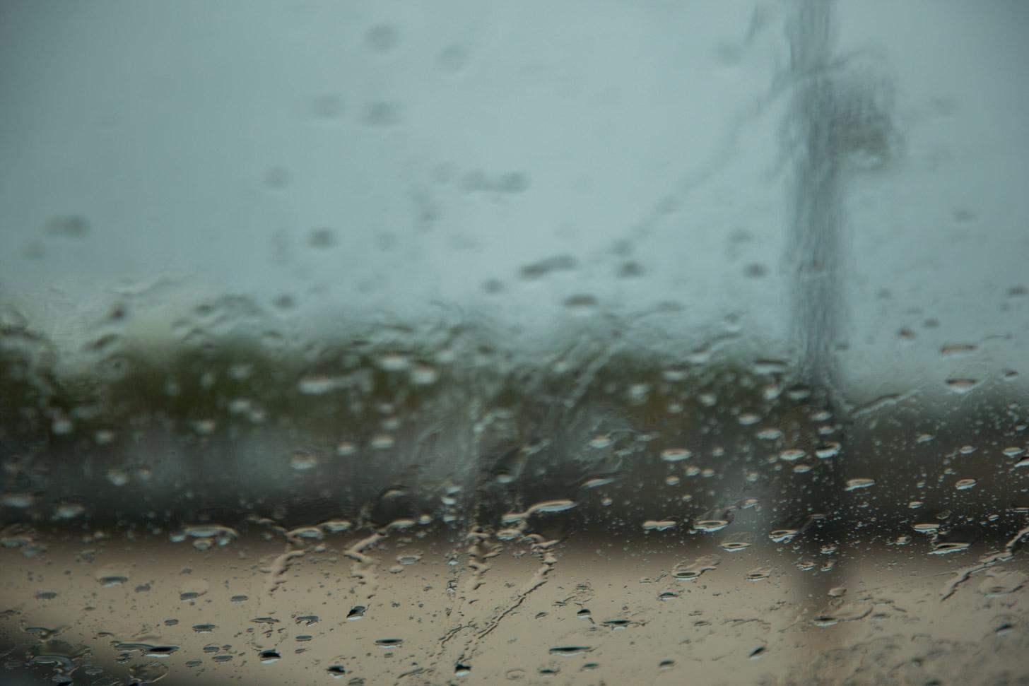 Ook op Lanzarote kan het regenen.
