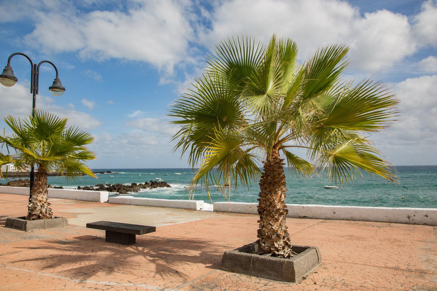 De zon schijnt vaak op Lanzarote